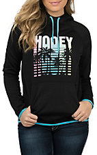 HOOey Women's Black Palms Hooded Sweatshirt