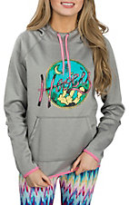 HOOey Women's Grey Cactus Nights Hoodie