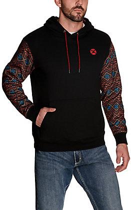 Hooey Men's Rumba Black with Aztec Sleeves Hooded Sweatshirt