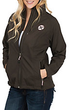 HOOey Women's Brown and Pink Softshell Jacket