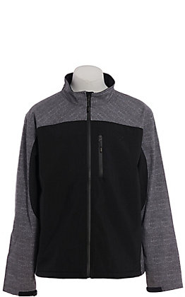 HOOey Men's Grey & Black Softshell Jacket