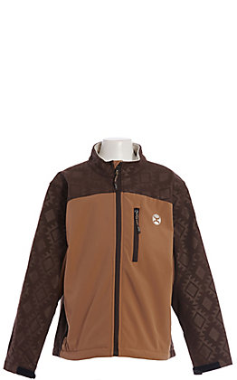 HOOey Kid's Tan & Brown Softshell Jacket