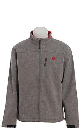HOOey Men's Grey & Red Softshell Jacket