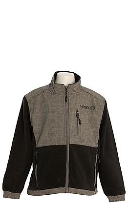 Hooey Boys' Charcoal Grey Soft Shell with Black Fleece Jacket
