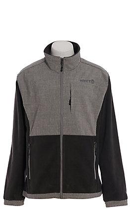 HOOey Men's Grey & Charcoal Tech Jacket