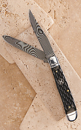 Hooey Black Bone Trapper Knife