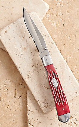 HOOey Red Pick Bone Trapper Knife