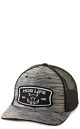 Hog Life Ammo Black Tri-Blend with Black Mesh Logo Patch Cap