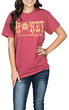 Girlie Girl Originals Women's Heather Cardinal Red Honey Hush S/S T-Shirt
