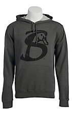 Stackin Bills Men's Grey with Black Logo Long Sleeve Hoody