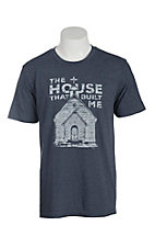 Mason Jar Label Navy House Built T-Shirt