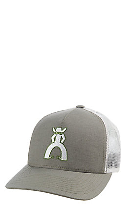 Hooey Heather Grey and White Punchy Knox Logo Cap
