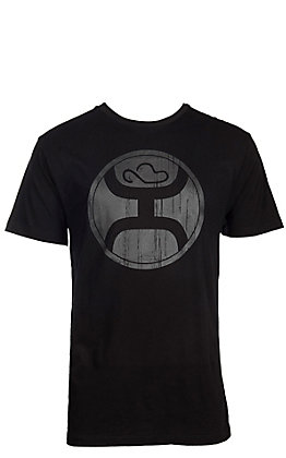 HOOey Men's Black with Black Logo Short Sleeve T-Shirt