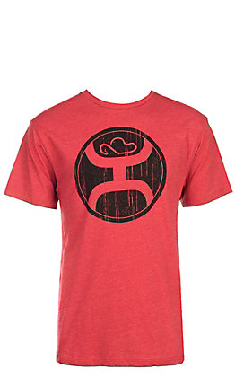HOOey Men's Red with Black Logo Short Sleeve T-Shirt