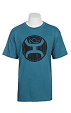 HOOey Men's Teal with Black Logo Short Sleeve T-Shirt
