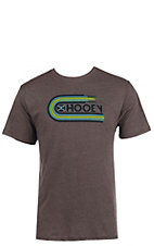 HOOey Men's Heather Brown Vinyl Logo Short Sleeve Tee