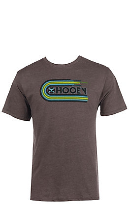 HOOey Men's Heather Brown Vinyl Logo Short Sleeve T-Shirt