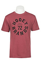 HOOey Men's Red Pioneer Short Sleeve T-Shirt