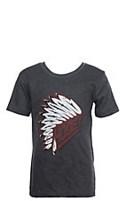HOOey Boys' Charcoal and Red Headdress T-Shirt