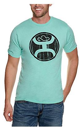 Hooey Men's Turquoise Logo Short Sleeve T-Shirt
