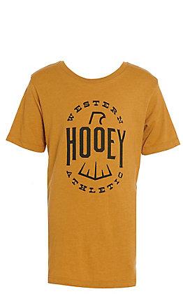 Hooey Boys Mustard Falcon Logo Short Sleeve Tee