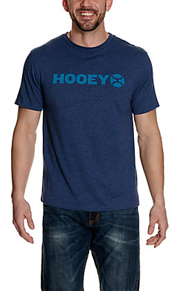 Hooey Men's Blue with Turquoise Logo Short Sleeve T-Shirt