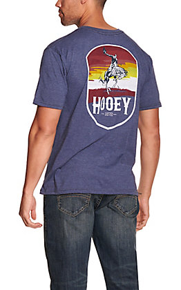 Hooey Men's Heather Navy with Rodeo Logo Short Sleeve T-Shirt