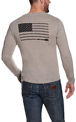 Hooey Men's Grey Liberty Graphic Long Sleeve T-Shirt