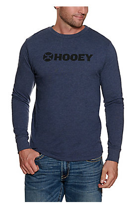 Hooey Men's Navy Logo Long Sleeve T-Shirt