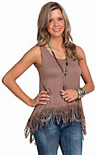 PPLA Women's Taupe Landslide Tunic Tank Top