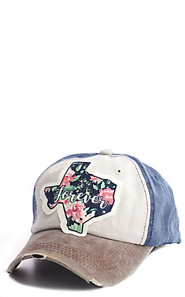 Southern Junkie Tan & Navy Texas Forever Patch Cap
