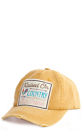 Southern Junkie Gold Raised On Country Sunshine Patch Cap