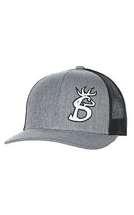 Stackin Bills Heather Grey and Black with Buck Logo Cap