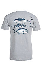 Hobie by Hurley Men's Grey Pocket Sport Fish Duo Short Sleeve Tee