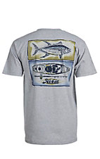 Hobie by Hurley Men's Grey Pocket Kayak Fish Short Sleeve Tee