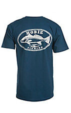 Hobie by Hurley Men's Harbor Blue Pocket Redfish Oval Short Sleeve Tee