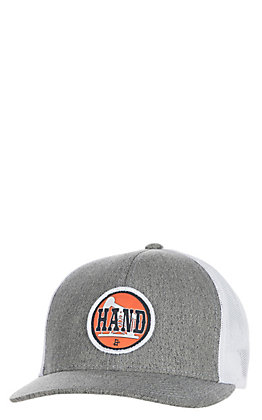 Stackin Bills Men's Heather White Pumpjack Hand Patch Cap