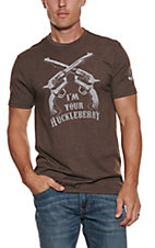 Mason Jar Label Men's Chocolate I'm Your Huckleberry Short Sleeve T-shirt