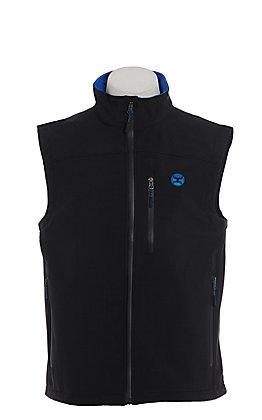 HOOey Men's Black & Blue Softshell Vest
