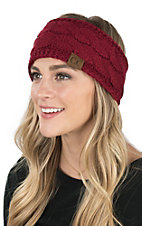 C.C. Beanies Burgundy Head Wrap
