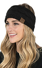 C.C. Beanies Black Head Wrap