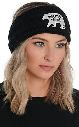 C.C. Exclusives Women's Black Mama Bear Headwrap