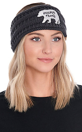 C.C. Exclusives Women's Dark Grey Mama Bear Headwrap