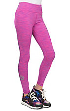 HOOey Women's Pink Space Dye Yoga Pants
