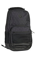 Hurley Patrol Black with White Polka Dot Laptop Backpack
