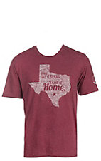 Mason Jar Label Maroon I Call It Home T-Shirt