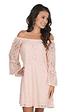 Flying Tomato Women's Blush Lace Dress