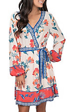 Flying Tomato Women's Cream Floral Dress