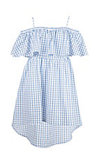 Flying Tomato Women's Blue Gingham Dress