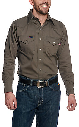 Lapco Grey Flame Resistant Workshirt IGR7WSX- Big & Tall